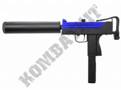 HFC HG203 MAC11 SMG Replica Gas Blowback Airsoft BB Machine Gun 2 Tone Blue Black Metal